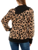 Adrienne Vittadini Long Sleeve With Split Neck Pullover Sweater - 2