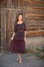Maden Foulard Two Piece Skirt Set - 7