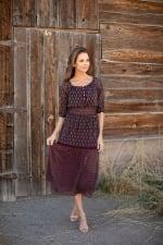Maden Foulard Two Piece Skirt Set - 6