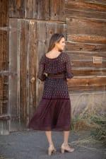 Maden Foulard Two Piece Skirt Set - 2