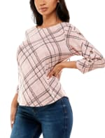 Three Quarter Sleeve Hacci With Grommets Top - 8