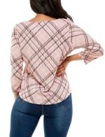 Three Quarter Sleeve Hacci With Grommets Top - 7