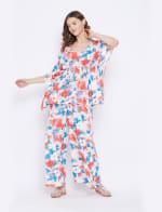 2-Piece Top and Pajama Rayon Co-Ord Set - 4