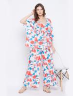 2-Piece Top and Pajama Rayon Co-Ord Set - 5