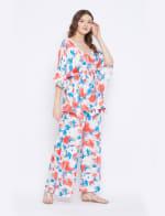 2-Piece Top and Pajama Rayon Co-Ord Set - 6