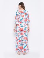 2-Piece Top and Pajama Rayon Co-Ord Set - 2