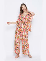 2-Piece Top and Bottom Rayon Co-Ord Pajama Set - Plus - 7