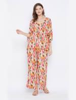 2-Piece Top and Bottom Rayon Co-Ord Pajama Set - Plus - 1