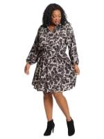 Airbrush Blocks Relaxed Shirt Dress - Plus - 3