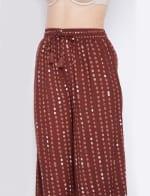 2-Piece Top and Bottom Rayon Co-Ord Multi Color Pajama Set - Plus - 4