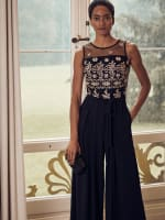 Embroidery Sleeveless Jumpsuit - 6