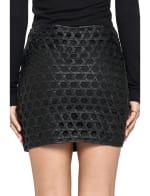 Vegan Leather Weave Skirt - 2