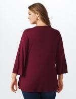 Westport V-Neck Crochet Lace Up Knit Top - Plus - 2