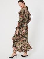 Gigi Parker Long Sleeves Wrap Dress With Ruffles - 7