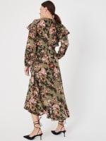 Gigi Parker Long Sleeves Wrap Dress With Ruffles - 3