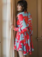 Sukiso Women's Coral Wave Elsa Dress - 2