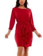 Adrienne Vittadini Asymmetrical Flounce Dress - 16