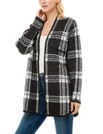 Adrienne Vittadini Sweater With Chest Pockets Shacket - 5
