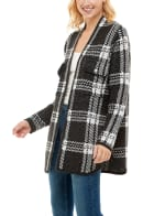 Adrienne Vittadini Sweater With Chest Pockets Shacket - 3