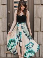 SukiSo Tie-Dye Goddess Maxi Sheer Wrap Skirt - 3