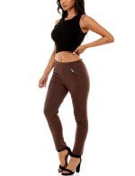 Adrienne Vittadini Pull On With Zipper Detail Pant - 17