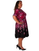 Floral Scuba Fit & Flare Dress - Plus - 3