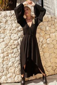 Linda V-Neck Midi Dress - Plus - Back