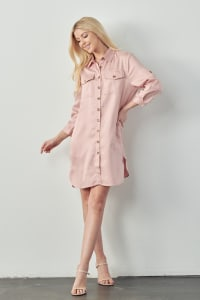 Taylor Tunic Shirt Dress - Back