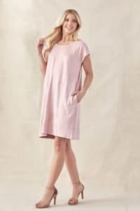 Ariel Stretch Suede Dress - Back