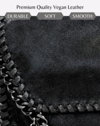 Alicia Chain Crossbody - Vegan Leather - Back