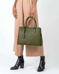 Mersi Meghan Satchel - Vegan Leather - Back