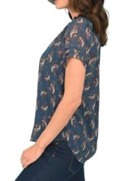 DR2 Casual Short Sleeve V Neck Top - Back