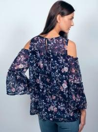 Westport Floral Cold Shoulder Blouse - Misses - Back