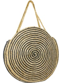 Woven Straw Jute Circle Shoulder Bag - Back