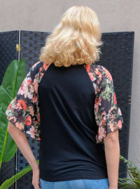 Westport Floral Mix Media Top - Misses - Back