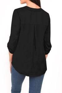 DR2 Casual Long Sleeve V Neck Top - Back