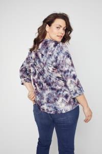 Roz & Ali Batik Tie Dye Popover - Plus - Back