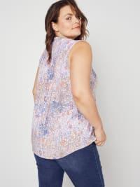 Roz & Ali Ditsy Sleeveless Popover - Plus - Back