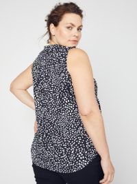 Roz & Ali Painted Dots Sleeveless Popover - Plus - Back