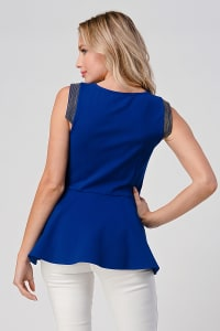 KAII Micro Chain Detailed Front Zipper Top - Back
