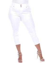Super Stretchy Capri Jeans - Plus - Back