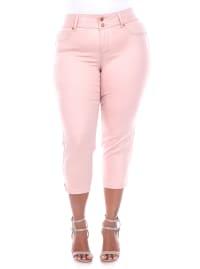 Super Stretchy Capri Denim Jeans - Plus - Back