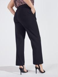 Roz & Ali Secret Agent Slight Bootcut Pants - Plus - Back