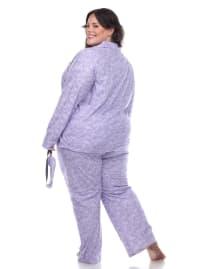 Three-Piece Pajama Set - Plus - Back