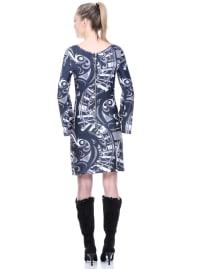 Juliana Long Bell Sleeves Dress - Back