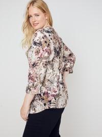 Roz & Ali Burgundy Floral Popover - Misses - Back