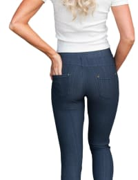 Stretchy Long Jeans - Plus - Back