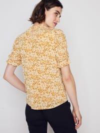 Roz & Ali Puff Sleeve Floral Blouse - Misses - Back