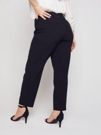 Roz & Ali Secret Agent Slim Leg Wide Waistband Pants - Plus - Back