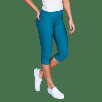 Stretchy Capri Jeans - Plus - Back